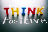 Think positive, do not negative — Foto de Stock
