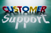 Customer support, colorful words — Stock Photo
