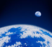 スペースの青い地球 — ストック写真