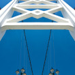 Stock Photo: White bridge constructure over blue sky