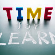 Time for learn — Stock Photo