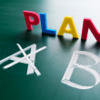 Crossing out Plan A and writing Plan B. — Stock Photo #8963376