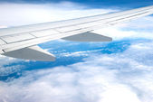 Airplane fly above cloud — Foto Stock