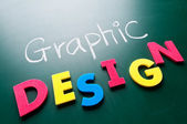 Graphic design concept — Stock Photo