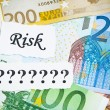 Risk or chance concept on money — Stock Photo