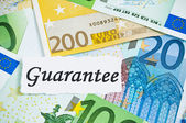 гарантия на финансовых концепции с евро — Стоковое фото