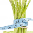 Royalty-Free Stock Photo: Lose weight concept, Asparagus with tape