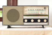 Old fashionable radio — Stock Photo