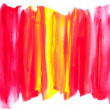 Abstract watercolor design with stylized on white. — Stock Photo