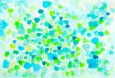 Abstraktní jarní listy akvarel design — Stock fotografie