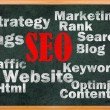 SEO concept with other related words - Stock Photo
