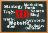 SEO concept with other related words — Stock Photo