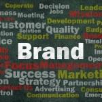 concept de la marque avec d'autres mots associés — Photo