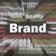 Royalty-Free Stock Photo: Brand concept with other related words