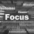 Stock Photo: Focus concept with other related words