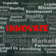 Innovate concept with other related words - Stock Photo