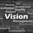Royalty-Free Stock Photo: Vision concept with other related words