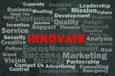 Innovate concept with other related words — Stock Photo
