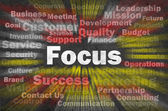 Focus concept with other related words — Stock Photo