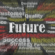 Future concept with business related words — Stockfoto #9643573