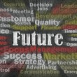 Future concept with business related words — Foto de Stock