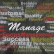 Manage concept with business related words - Stock Photo