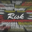 Risk concept with business related words — Foto Stock