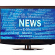 News word and internet related words — Stock Photo