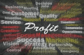 Profit word with business related words — Stock Photo
