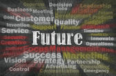Future concept with business related words — Stock Photo