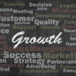 Stock Photo: Growth concept with business related words on retro background