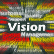 Stock Photo: Vision concept with other related words