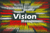Vision concept with other related words — Stock Photo