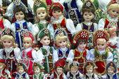 Hungarian dolls in costumes — Stockfoto
