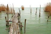 Old pier at Lake Balaton,Hungary — Stock Photo