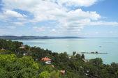 Landscape on Lake Balaton — Stock Photo
