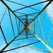Stock Photo: High tension line structure