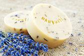 Huisgemaakte zeep met lavendel — Stockfoto