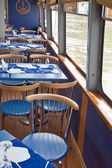 Cafe aboard a ship — Stock Photo