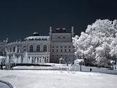 An opera theater is in city Odessa. IR — Foto de Stock