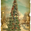 Under old times. New-year fir-tree — Stock Photo #8010967