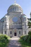 A marine cathedral is in city Kronstadt — Stock Photo