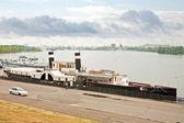 Antica nave a vapore — Foto Stock