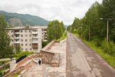 Urban landscape, streets of the city of Divnogorsk — Stockfoto
