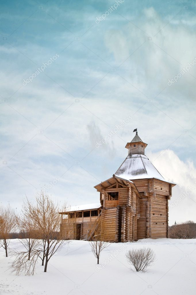 The old log building in Kolomna  Stock Photo #8034231