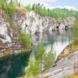 Stock Photo: Marble canyon in Karelia