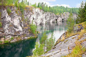 Marble canyon in Karelia — Stock Photo
