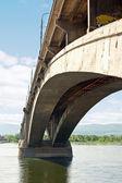 Yenisey nehri köprüsü — Stok fotoğraf