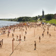 Beach in Novgorod — Stock Photo