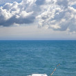 Boat on shore of Black sea — Stock Photo #8434544